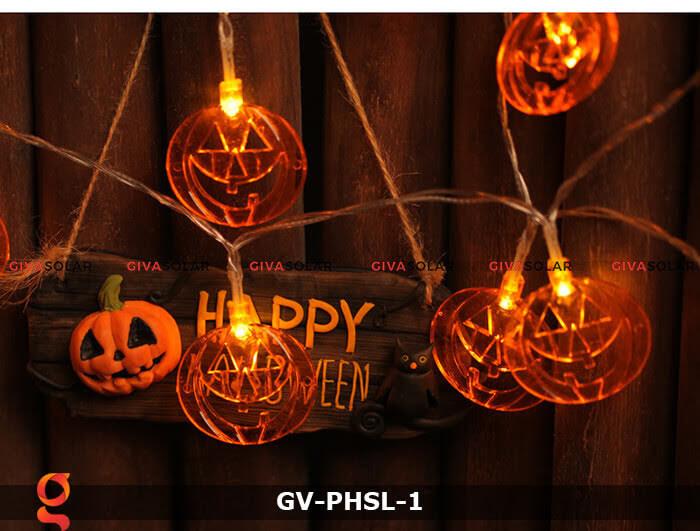 Dây đèn led bí ngô trang trí Halloween GV-PHSL-1 1