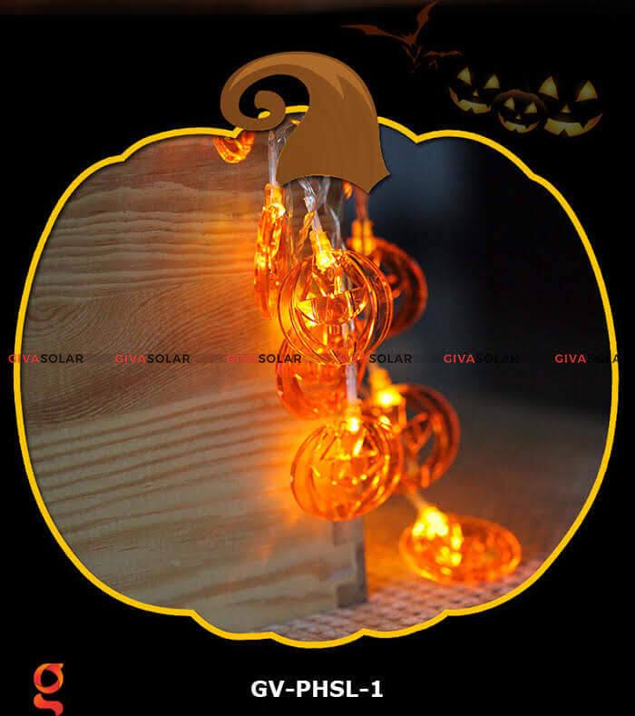 Dây đèn led bí ngô trang trí Halloween GV-PHSL-1 12