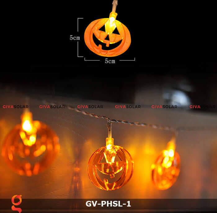 Dây đèn led bí ngô trang trí Halloween GV-PHSL-1 8