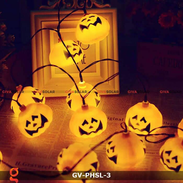 Dây đèn led bí ngô trang trí Halloween GV-PHSL-3 2