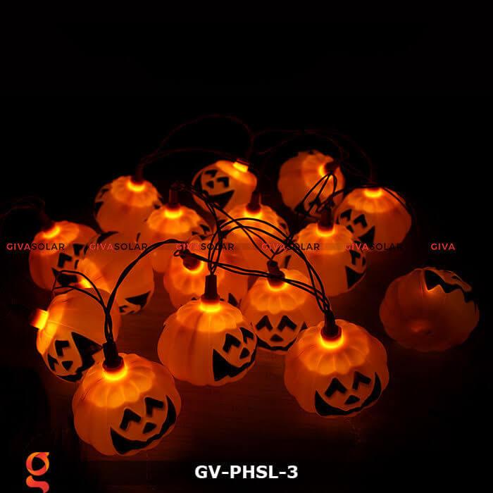 Dây đèn led bí ngô trang trí Halloween GV-PHSL-3 3