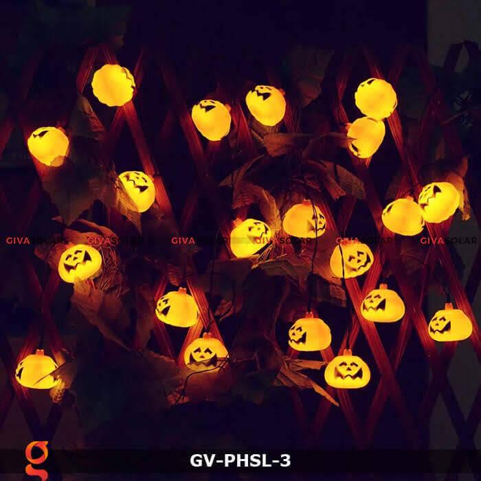 Dây đèn led bí ngô trang trí Halloween GV-PHSL-3 5
