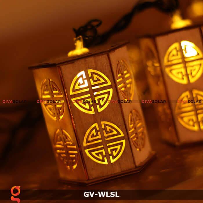 Dây đèn led đèn lồng gỗ trang trí GV-WLSL 11