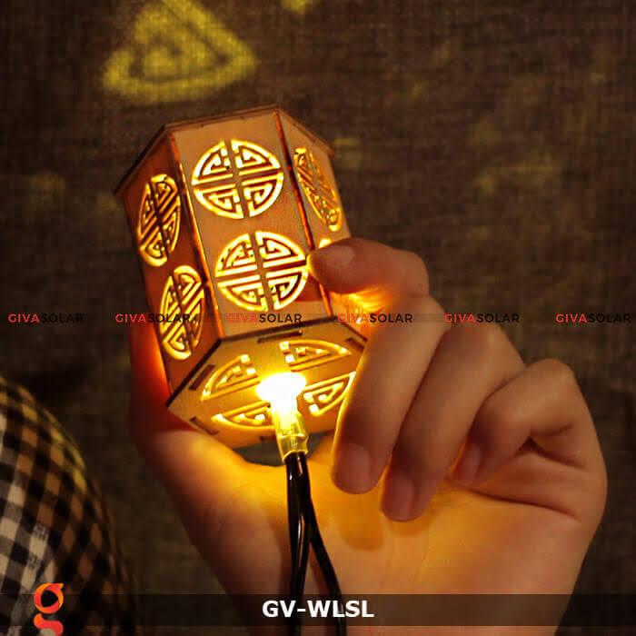 Dây đèn led đèn lồng gỗ trang trí GV-WLSL 2