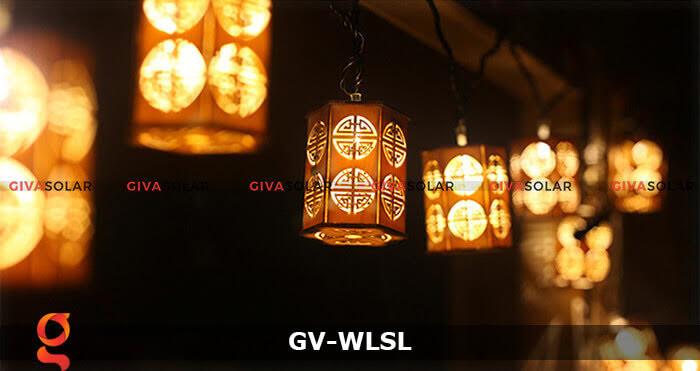 Dây đèn led đèn lồng gỗ trang trí GV-WLSL 6
