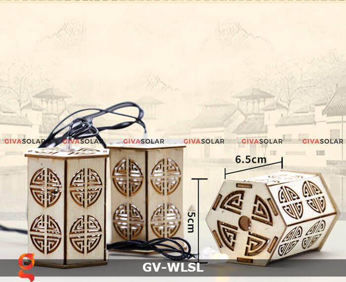 Dây đèn led đèn lồng gỗ trang trí GV-WLSL 7