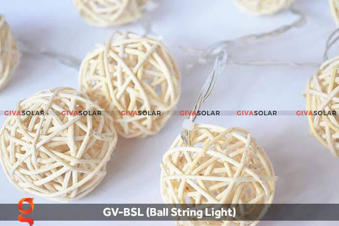 Dây đèn led quả cầu mây dùng trang trí GV-BSL 4
