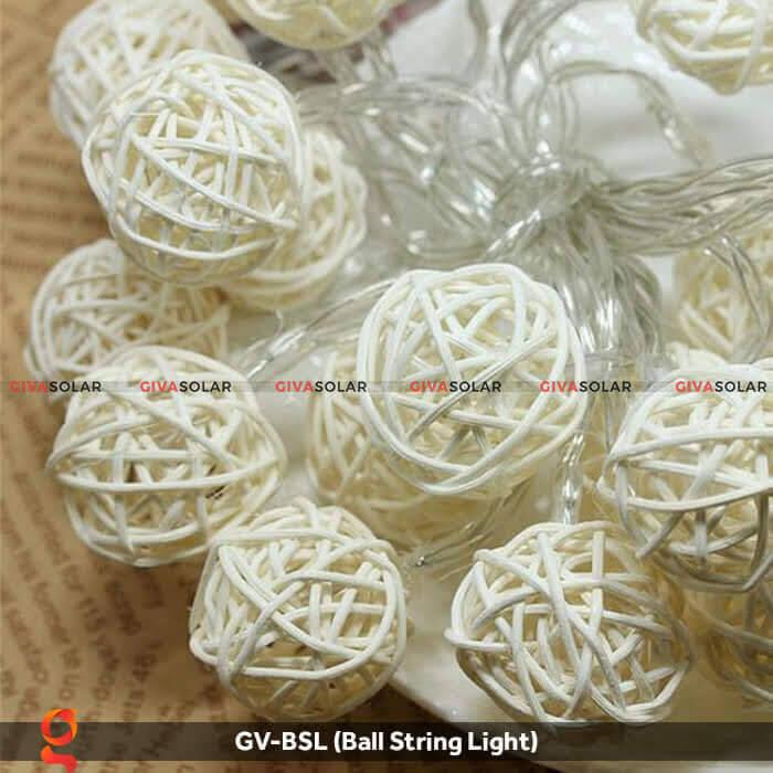 Dây đèn led quả cầu mây dùng trang trí GV-BSL 6