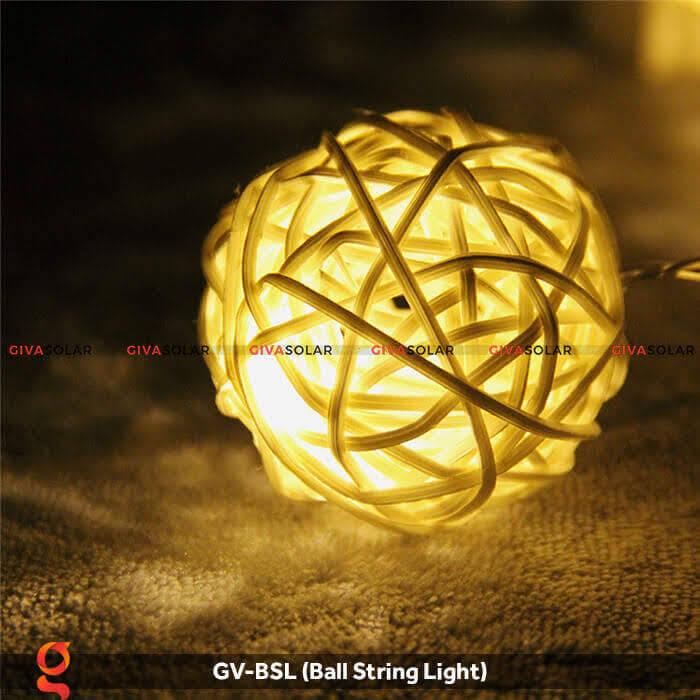 Dây đèn led quả cầu mây dùng trang trí GV-BSL 9