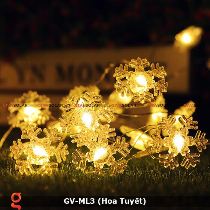Dây đèn led trang trí mẫu hình Hoa Tuyết GV-ML3 1
