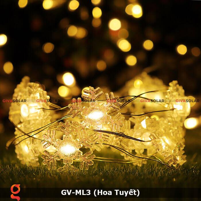Dây đèn led trang trí mẫu hình Hoa Tuyết GV-ML3 10