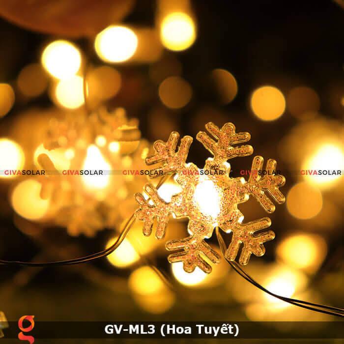 Dây đèn led trang trí mẫu hình Hoa Tuyết GV-ML3 2