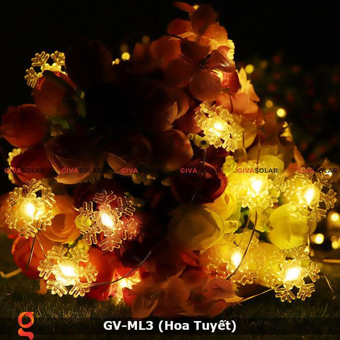 Dây đèn led trang trí mẫu hình Hoa Tuyết GV-ML3 3