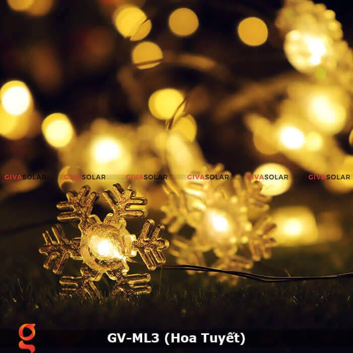 Dây đèn led trang trí mẫu hình Hoa Tuyết GV-ML3 7