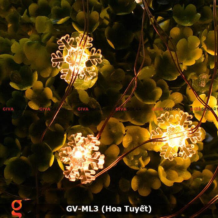 Dây đèn led trang trí mẫu hình Hoa Tuyết GV-ML3 8