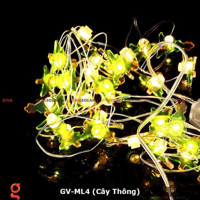 Dây đèn led trang trí hình cây thông noel GV-ML4 1