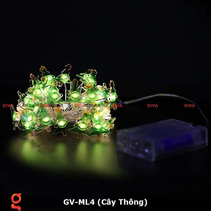 Dây đèn led trang trí hình cây thông noel GV-ML4 3