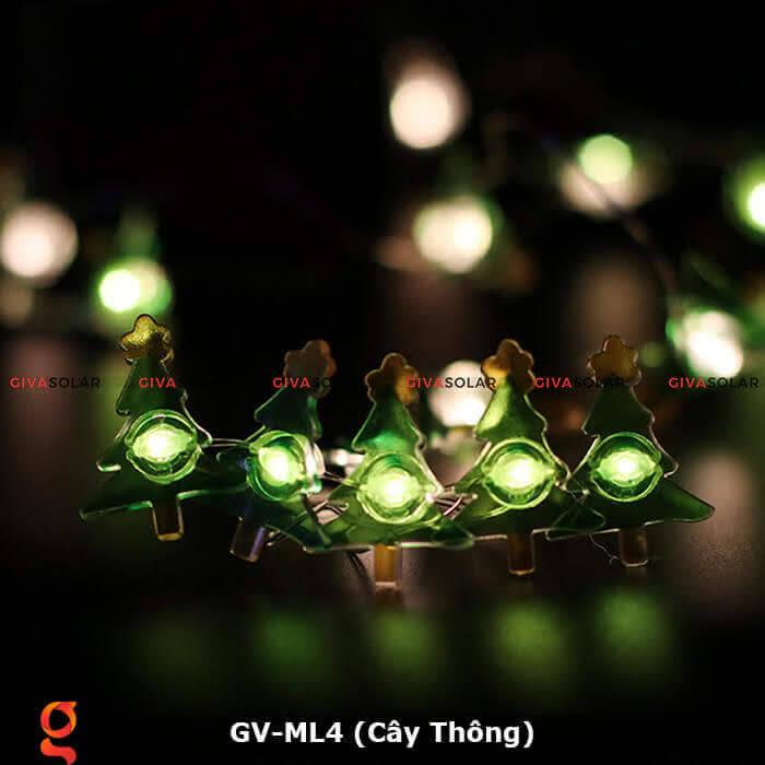 Dây đèn led trang trí hình cây thông noel GV-ML4 5