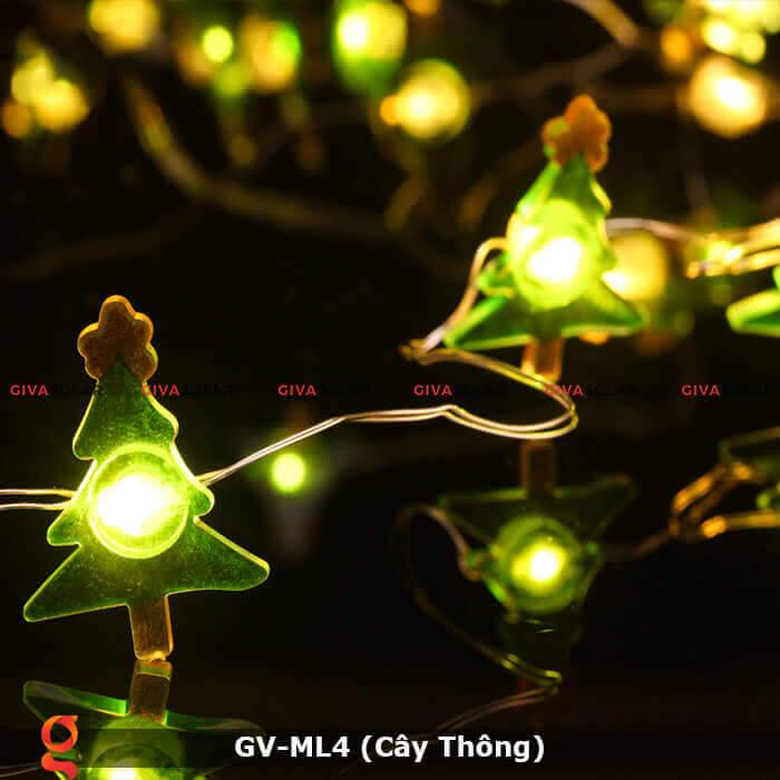 Dây đèn led trang trí hình cây thông noel GV-ML4 9