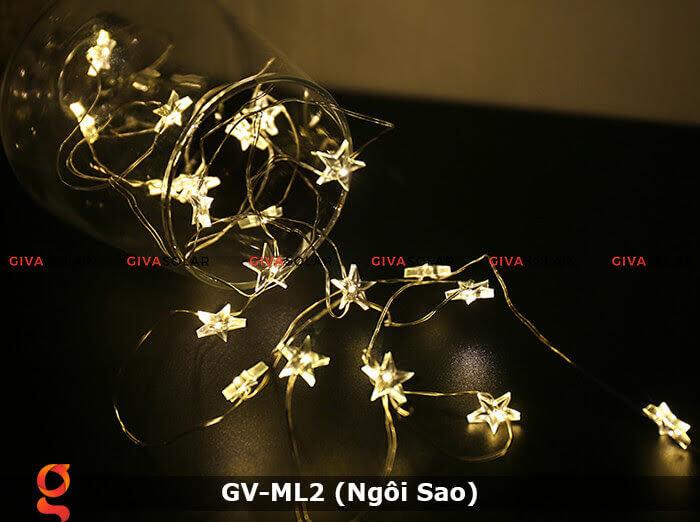 Dây đèn led trang trí mẫu hình ngôi sao GV-ML2 11
