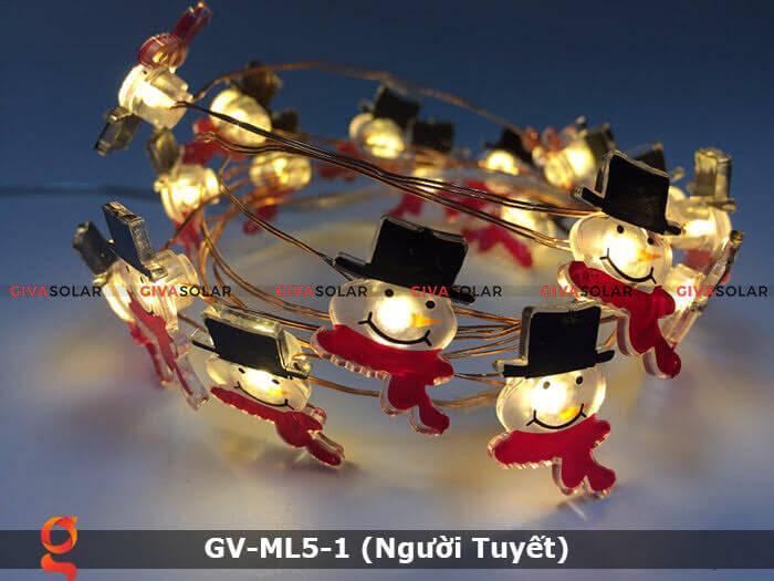 Dây đèn led trang trí noel hình Người Tuyết GV-ML5-1 12