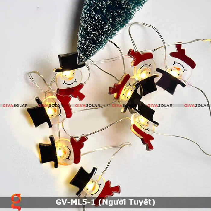 Dây đèn led trang trí noel hình Người Tuyết GV-ML5-1 3
