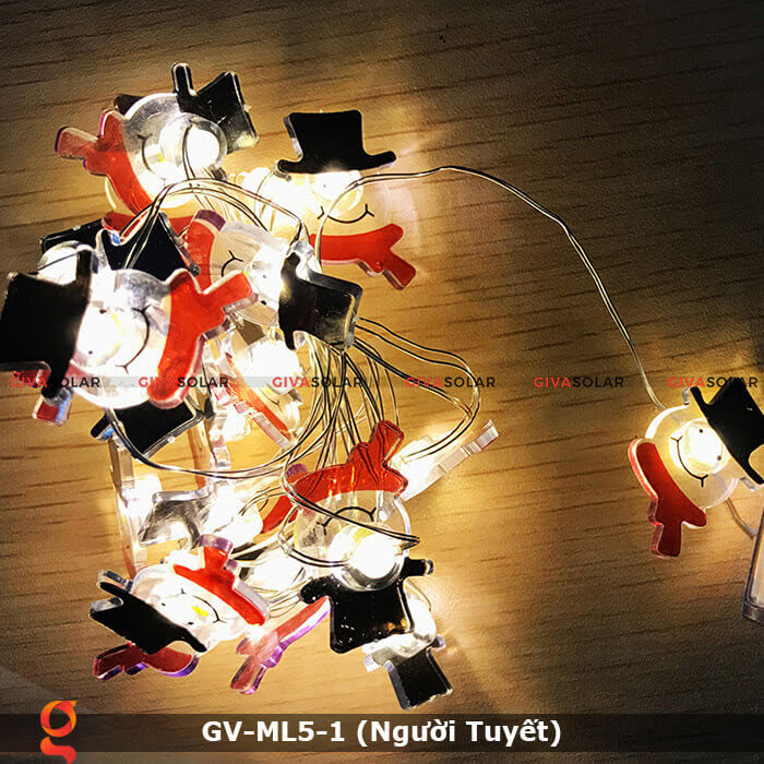 Dây đèn led trang trí noel hình Người Tuyết GV-ML5-1 5