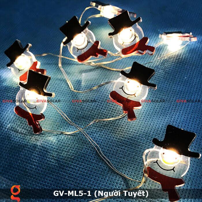 Dây đèn led trang trí noel hình Người Tuyết GV-ML5-1 6