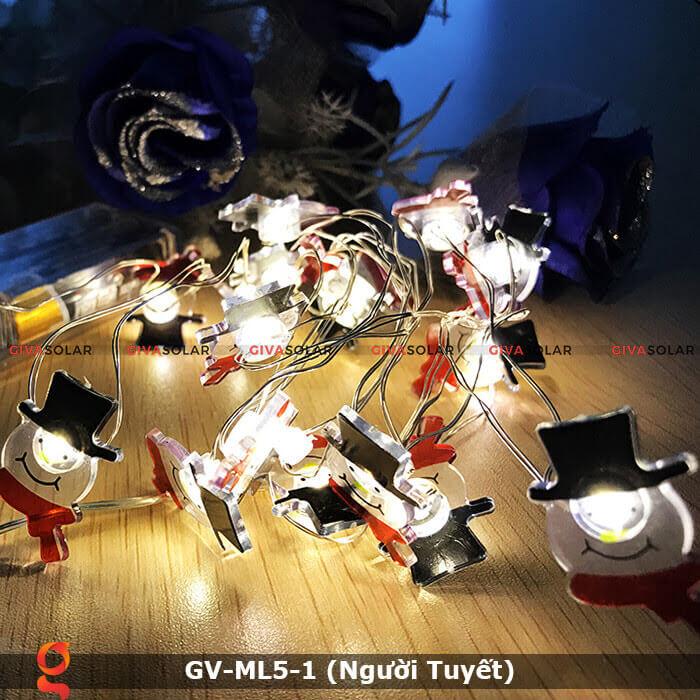 Dây đèn led trang trí noel hình Người Tuyết GV-ML5-1 7