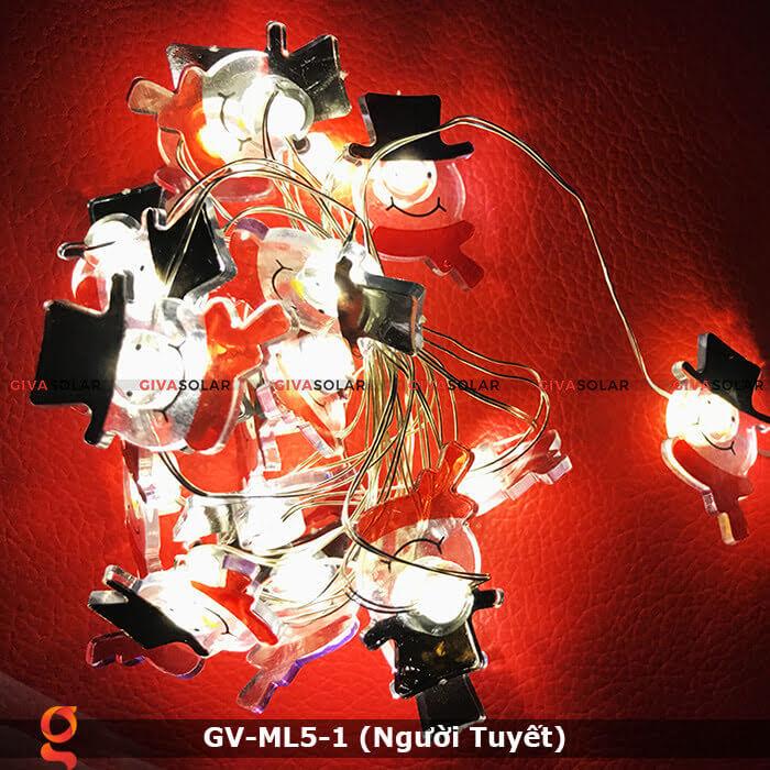 Dây đèn led trang trí noel hình Người Tuyết GV-ML5-1 8