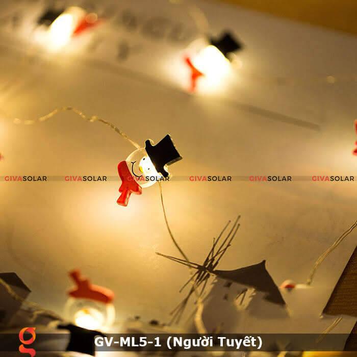 Dây đèn led trang trí noel hình Người Tuyết GV-ML5-1 9