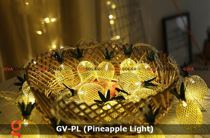 Dây đèn led trang trí siêu sáng hình quả dứa GV-PL 10