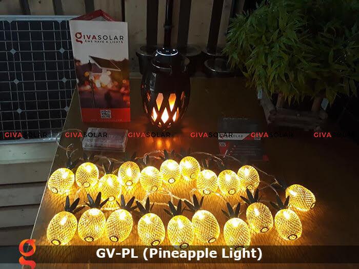 Dây đèn led trang trí siêu sáng hình quả dứa GV-PL 11