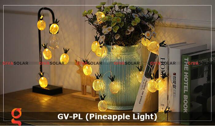 Dây đèn led trang trí siêu sáng hình quả dứa GV-PL 12