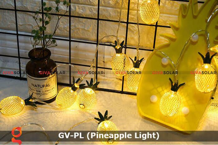 Dây đèn led trang trí siêu sáng hình quả dứa GV-PL 15