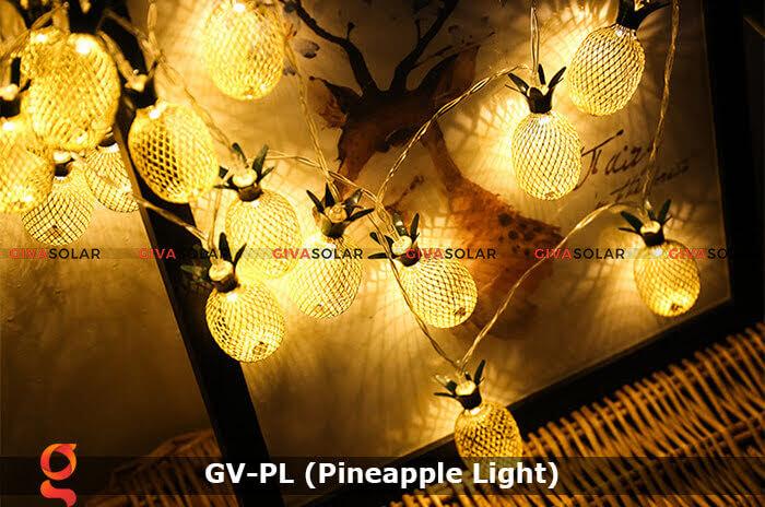 Dây đèn led trang trí siêu sáng hình quả dứa GV-PL 17