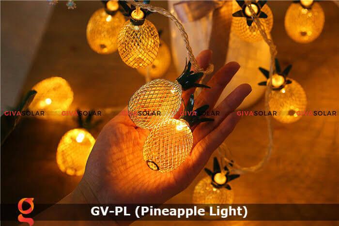 Dây đèn led trang trí siêu sáng hình quả dứa GV-PL 18