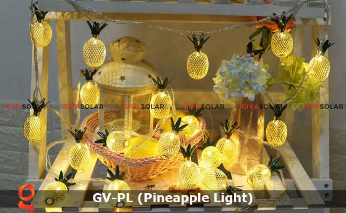 Dây đèn led trang trí siêu sáng hình quả dứa GV-PL 19