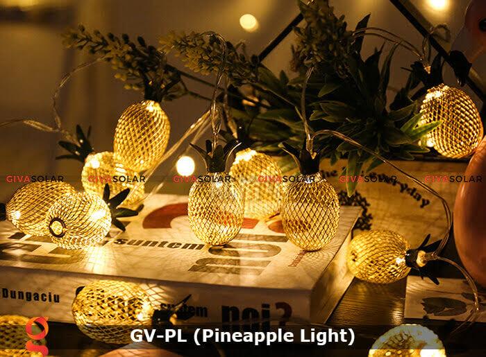 Dây đèn led trang trí siêu sáng hình quả dứa GV-PL 20