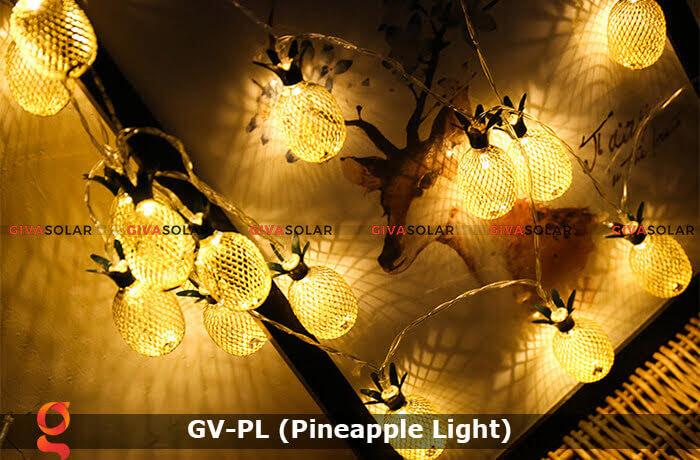 Dây đèn led trang trí siêu sáng hình quả dứa GV-PL 4