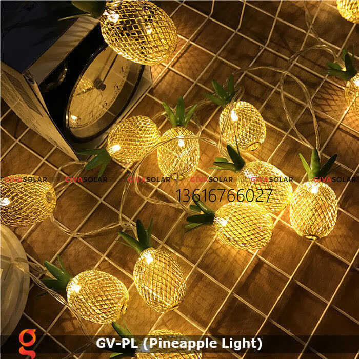 Dây đèn led trang trí siêu sáng hình quả dứa GV-PL 6
