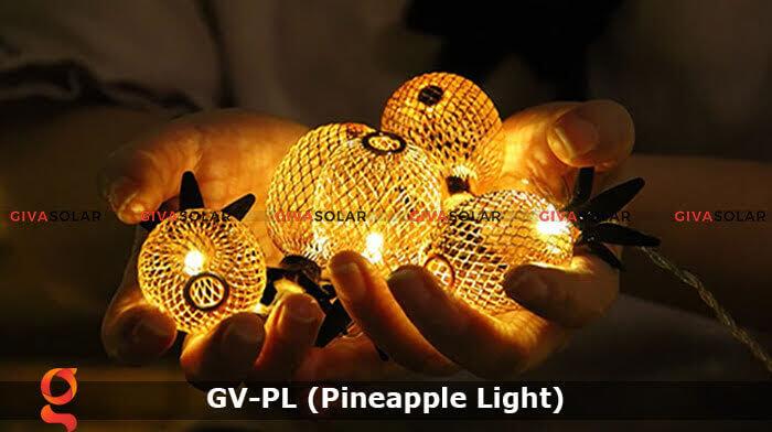 Dây đèn led trang trí siêu sáng hình quả dứa GV-PL 8