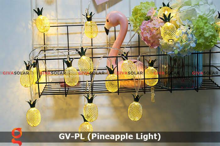 Dây đèn led trang trí siêu sáng hình quả dứa GV-PL 9