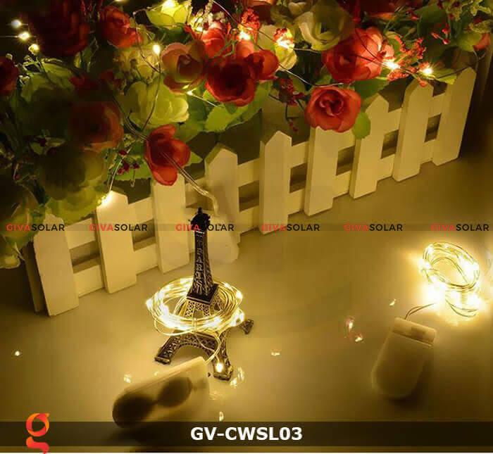 Dây led nhỏ gọn trang trí trong nhà, ngoài trời GV-CWSL03 4