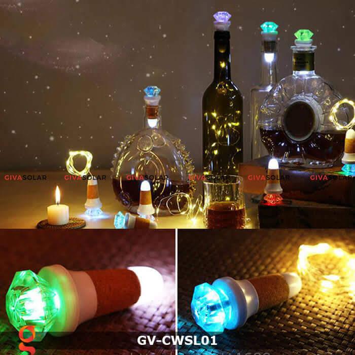 Dây led nút chai trang trí tiệc guầy Bar GV-CWSL01 8