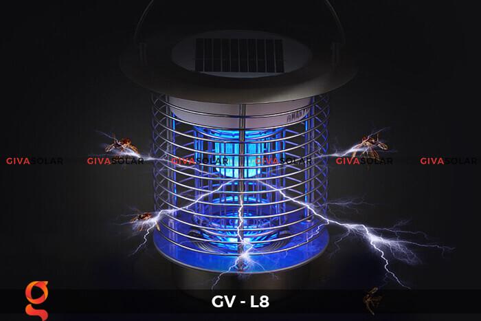 Đèn diệt côn trùng năng lượng mặt trời GV-L8 1