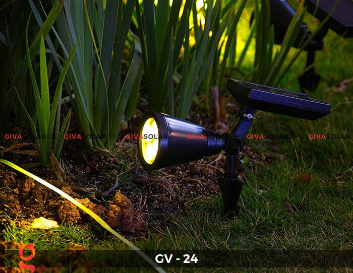 Đèn cắm thảm cỏ năng lượng mặt trời GV-24 2W 12