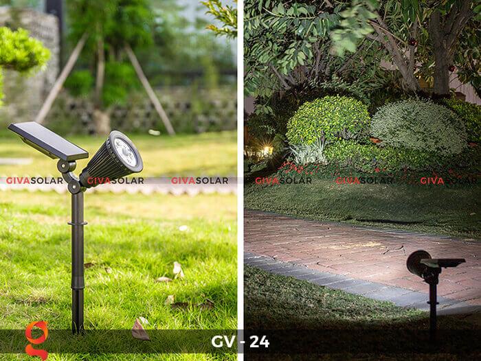 Đèn cắm thảm cỏ năng lượng mặt trời GV-24 2W 2