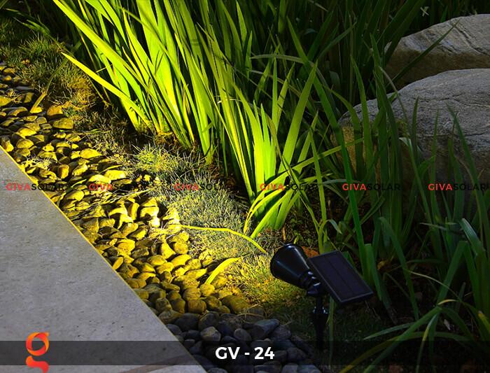 Đèn cắm thảm cỏ năng lượng mặt trời GV-24 2W 8