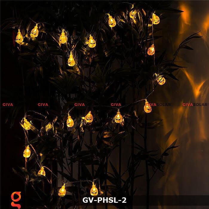 Dây đèn led bí ngô trang trí Halloween GV-PHSL-2 1